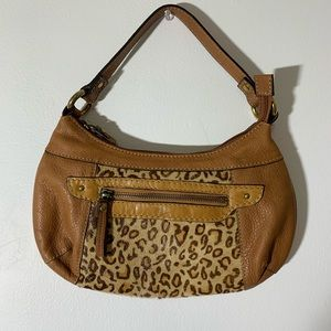Fossil leopard leather bag